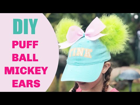 DIY Puffy No Sew Mickey Mouse Ears