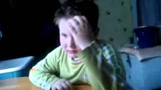 Мальчик  учит стих.с матом)