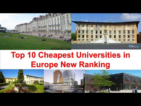 Top 10 Cheapest Universities in Europe New Ranking | University of Athens Ga