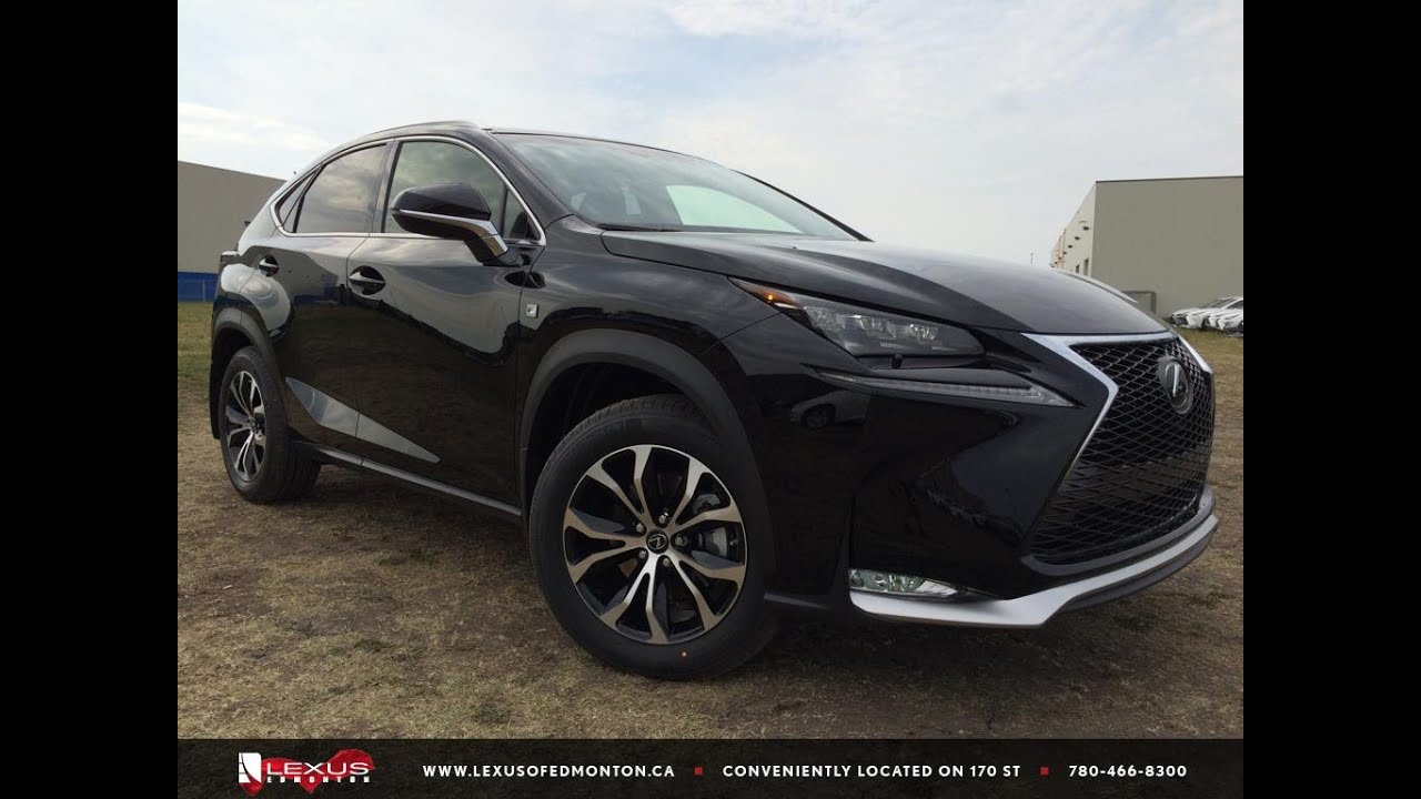 new black 2015 lexus nx 200t awd f sport series 1 in depth