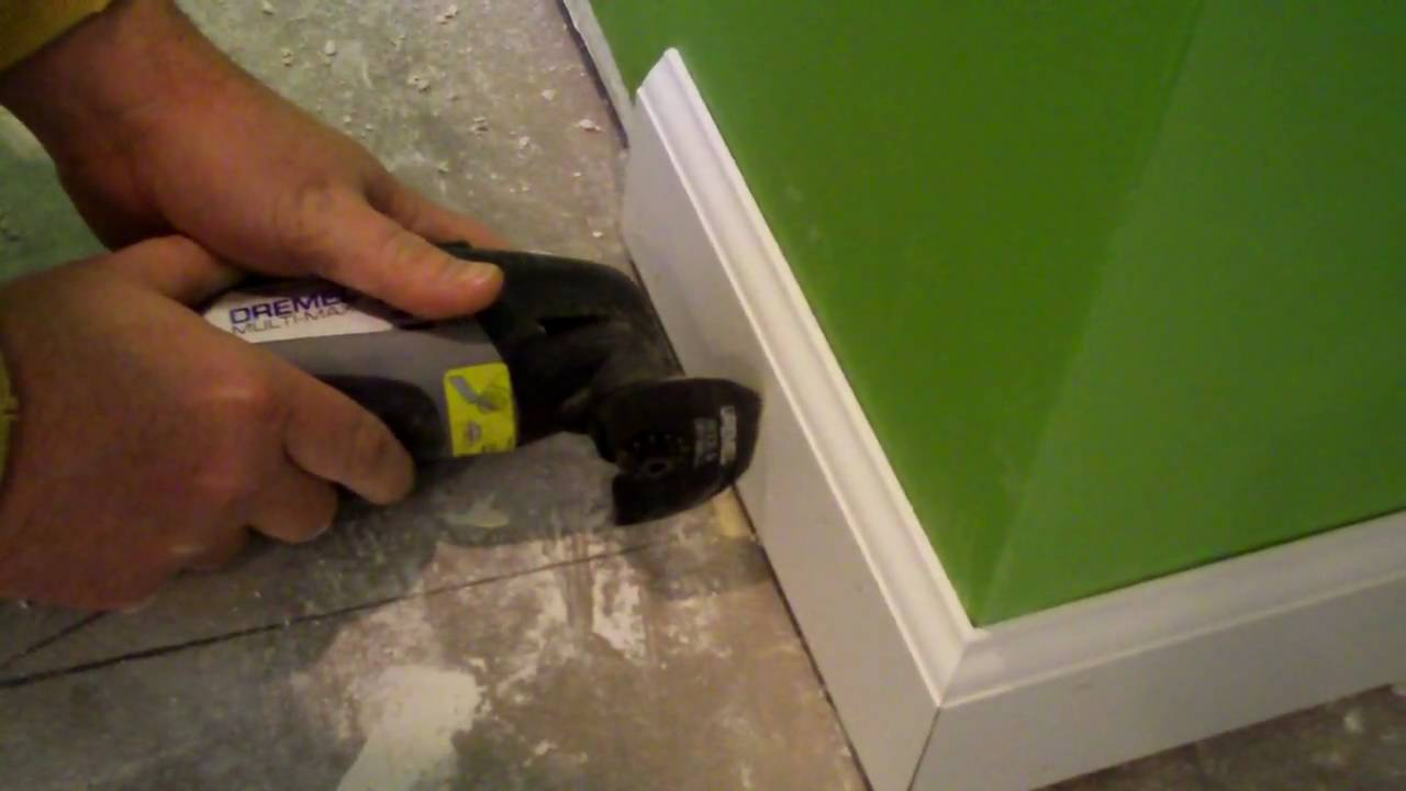How to cut base molding around wall vent - Cutting Trim With The Dremel Multi Max