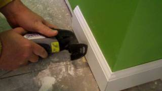 It's quick and easy to cut baseboard trim with the Dremel Multi-Max!