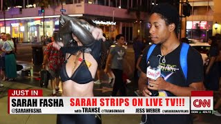 Drunk Reporter Strips on Live TV