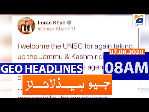 Geo Headlines 08 AM   7th August 2020
