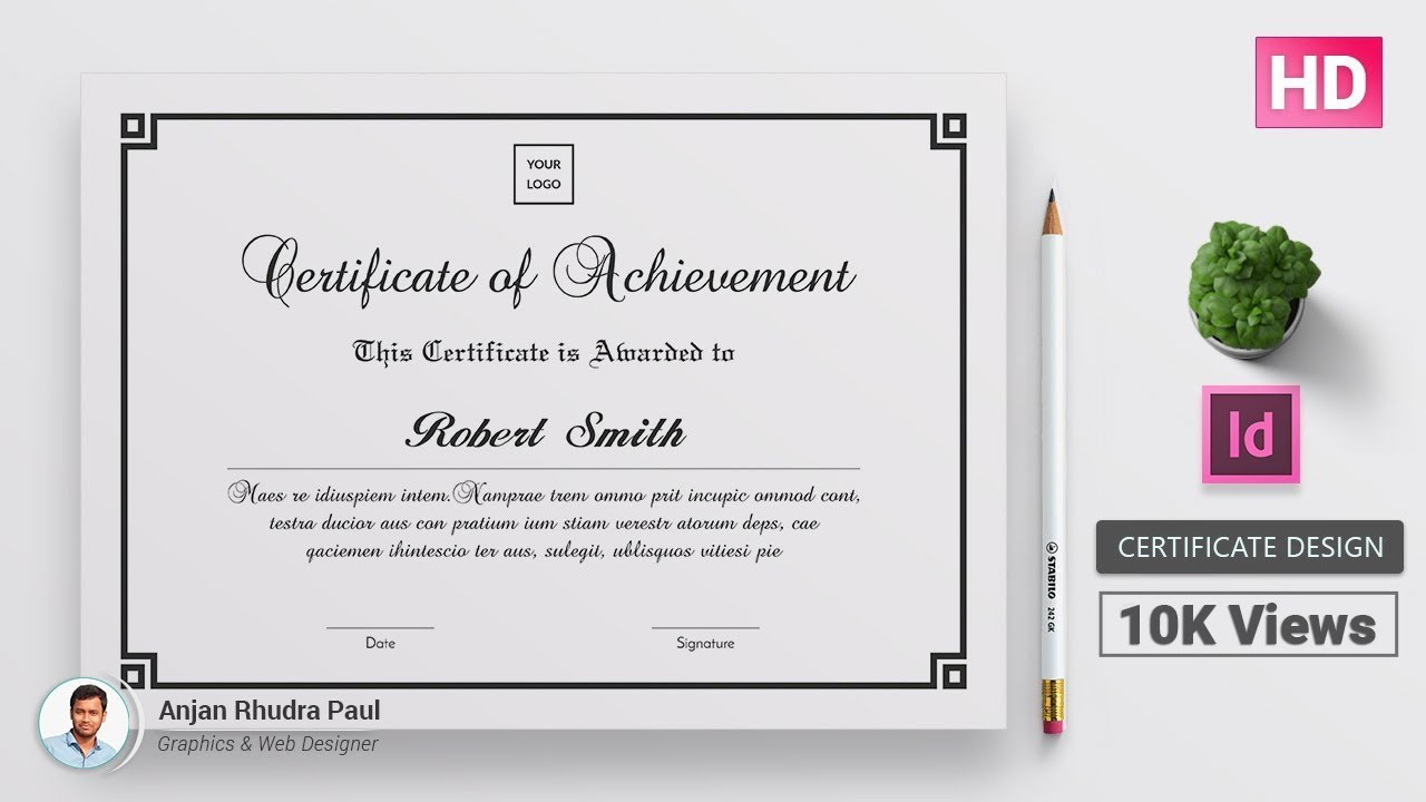 How To Create A Certificate Template In Indesign Indesign