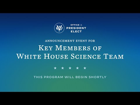 President-elect Biden Announces Key Members of his Science Team