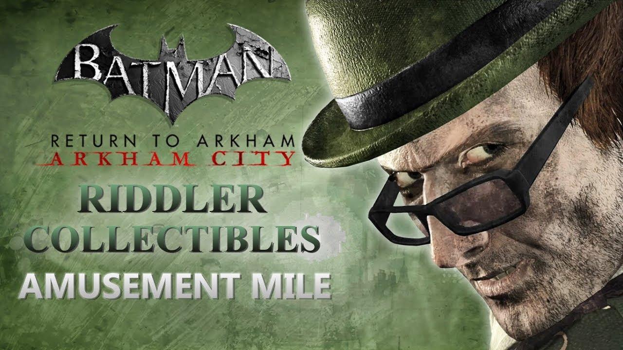 Batman Return To Arkham City Riddler Collectibles Asylum Reg 3 Ps4 Amusement Mile