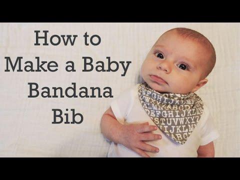 How To Make A Baby Bandana Bib Diy Youtube
