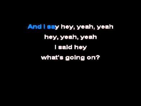 4 Non Blondes - What's Up (Karaoke / No Vocal) .FLV