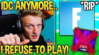 Tfue *REFUSES* To Play Fortnite ANYMORE then Gets TOXIC on His VIEWERS! - Fortnite Moments