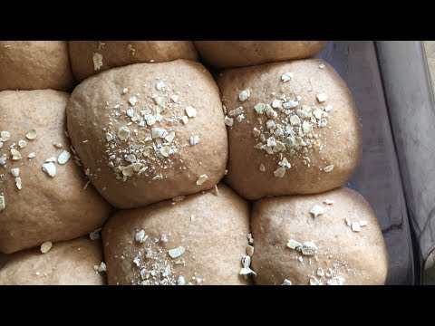 Fresh and Fluffy 100% Whole Wheat Rolls! | vegan, simple, soft, no bread machine