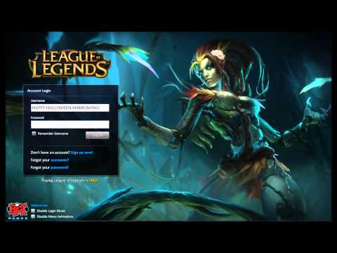 League of Legends Haunted Zyra/Harrowing 2013 Login screen+music