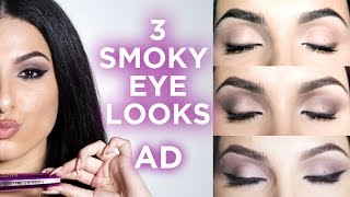 3 Smoky Eye Looks | AD | Leyla Rose | L'Oréal Paris #killereyes with new Fatale Mascara