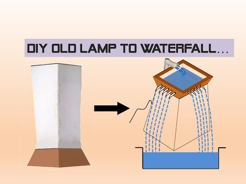 DIY FOUNTAIN FROM AN OLD LAMP...