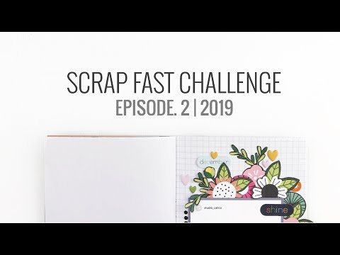 Scrap Fast 15 Minute Challenge | Episode 2 Traveler's Notebook Layout