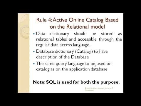 12 Codd's Rule :Beginner RDBMS,database design and modeling in hindi ,english