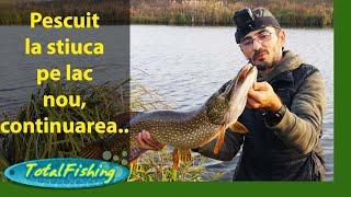 Pescuit la stiuca pe lac nou, continuarea...