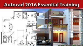 Autocad 2016  Essential Training Rotate and Scale tutorial 11