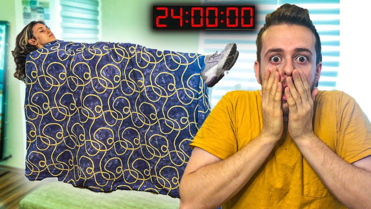 Alper'e 24 Saat Boyunca Şaka Yaptım 2 !