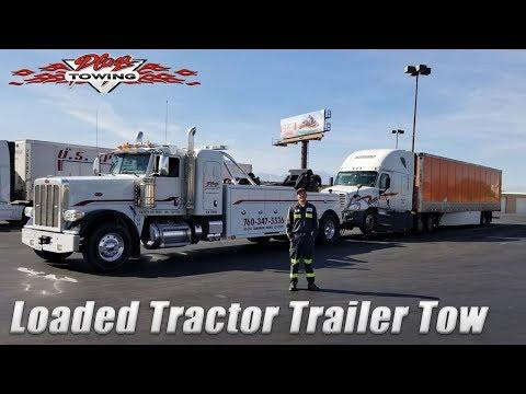 Loaded Tractor Trailer Break Down 113,000 Pounds