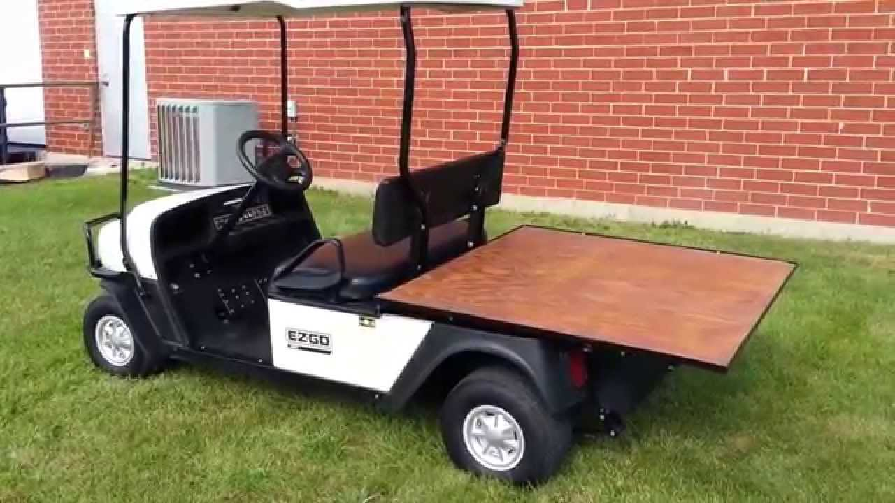 2010 EZGO MPT 1000E Flatbed Utility Vehicle Golf Cart New Batteries Flatbeds For Golf Carts on industrial dump carts, ezgo gas cargo carts, taylor dunn carts, ezgo hunting carts, gas powered carts, ez go flatbed carts, flatbed cushman cart,
