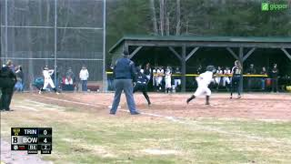 Trinity Softball highlights vs. Bowdoin