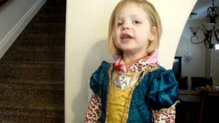 4 Year Old Singing I Wanna Be Where the People Are from Little Mermaid