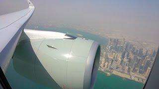 Qatar Airbus A350-900 XWB Takeoff from Doha - Rolls Royce Trent XWB spool up!