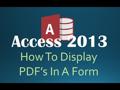 How To Display PDFs In A Form