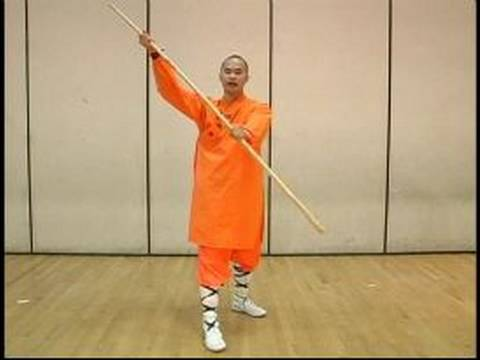Kung Fu Weapon Training & Meihuaquan : Rotating Bo Staff Shaolin Kung Fu