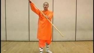 Kung Fu Weapon Training & Meihuaquan : Rotating Bo Staff Shaolin Kung Fu