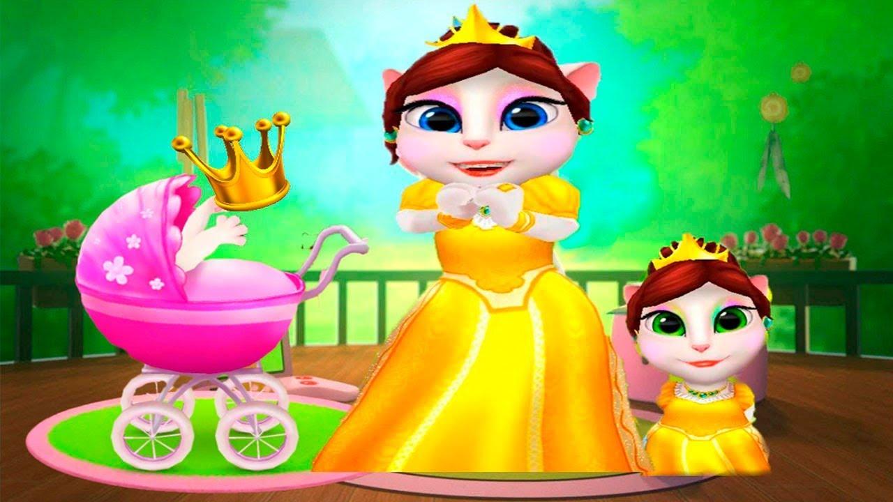 МОЯ ГОВОРЯЩАЯ АНДЖЕЛА Принцесса кошка и котята Мультик про ...