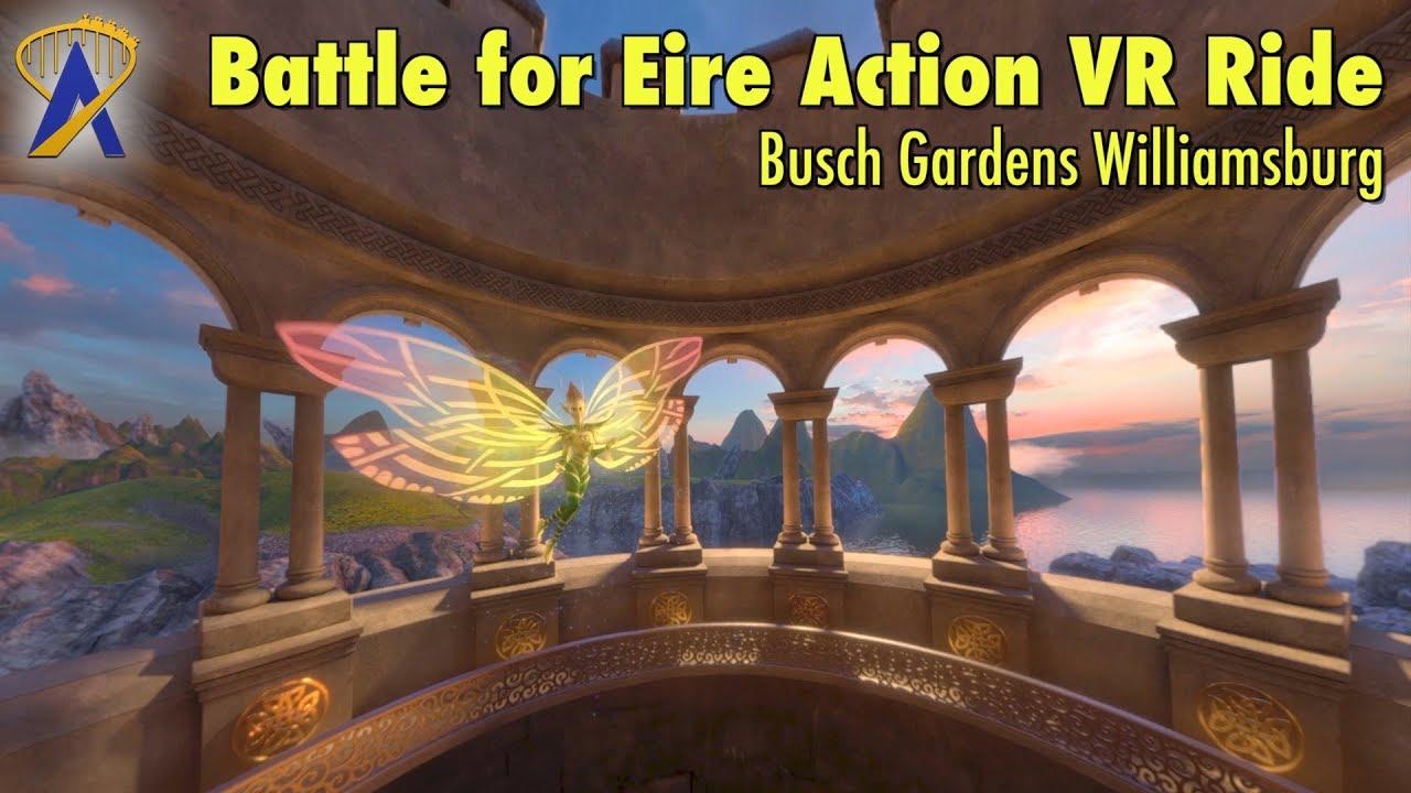 Battle for Eire Action VR Ride at Busch Gardens Williamsburg - YouTube