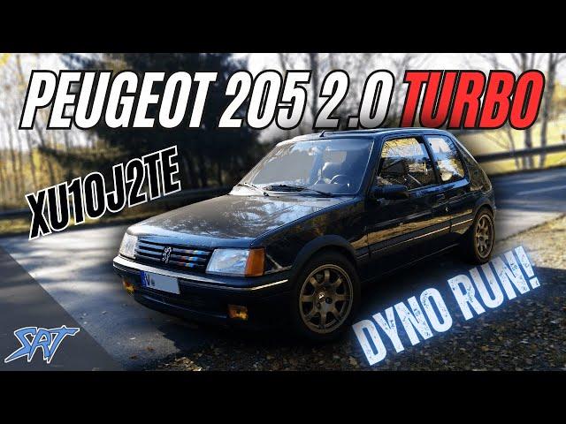SRT - Peugeot 205 2,0 8V Turbo - XU10J2TE TCT mit VEMS Steuergerät auf dem Prüfstand HD