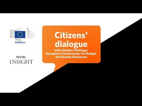 Citizens dialogue with Günther Oettinger, EU commissioner for budget and human resources