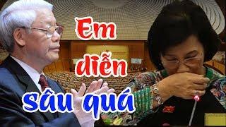 Bị lên án giữa hội trường quốc hội, Thím Ngân khóc sướt mướt khiến Tổng Trọng bối rối