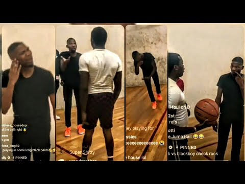Blockboy JB gets mad at Meek Mill slapping him in the face 1on1 basketball for 10k (Full)