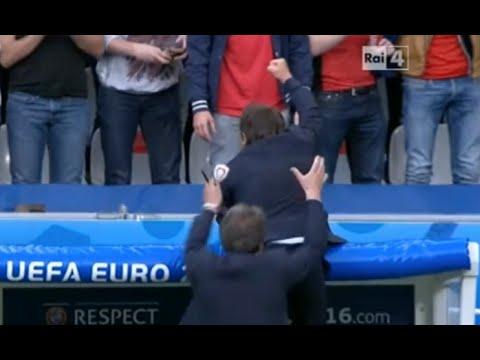 Italia Vs Spagna 2-0 ● Antonio Conte Show (Gialappa's Band) ● Euro 2016