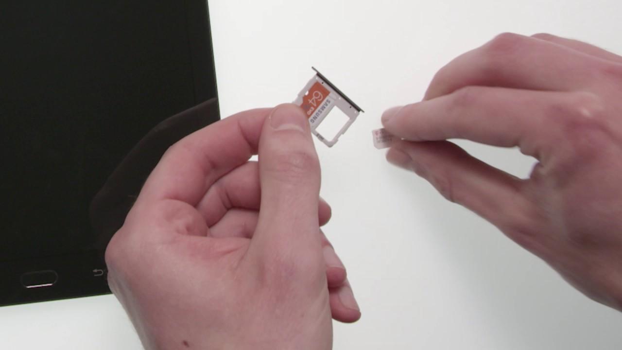 samsung galaxy tab s3 einsetzen von microsd und nano sim karte youtube. Black Bedroom Furniture Sets. Home Design Ideas