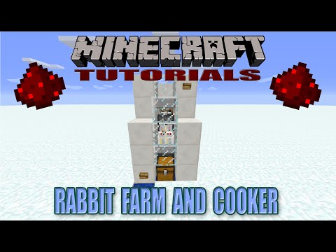 Minecraft fully AFKable rabbit's foot farm | Doovi