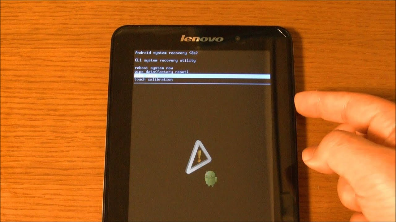Lenovo IdeaPad Tablet A1(16GB) system recovery utility