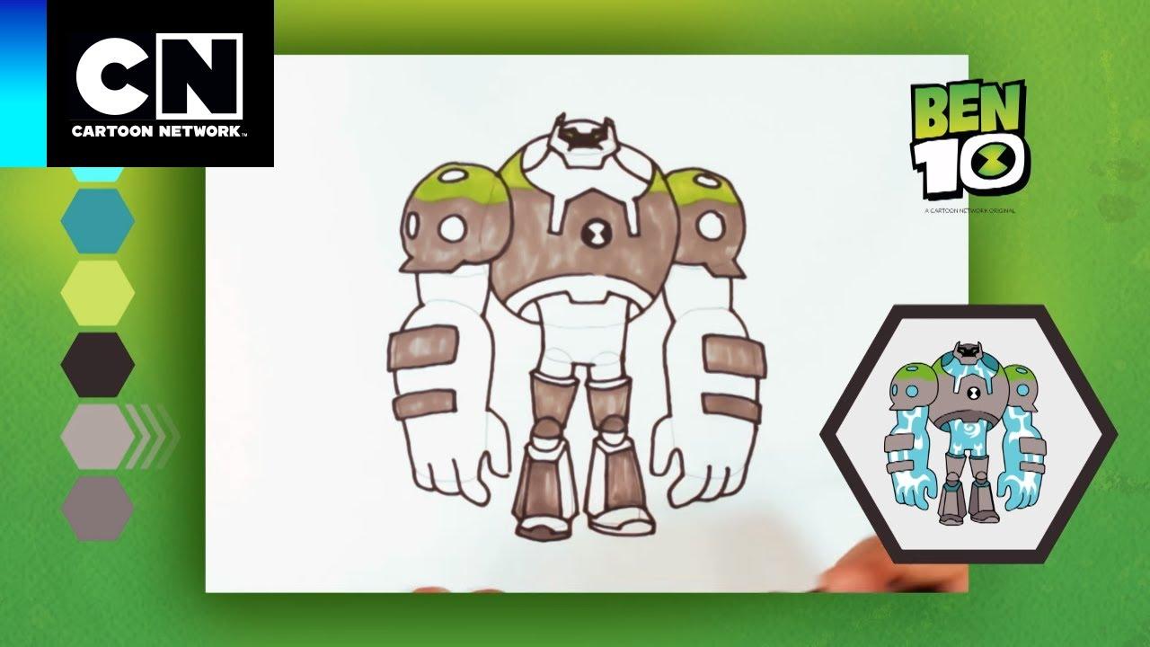Aprenda A Desenhar Choque Rochoso Ben 10 Cartoon Network Youtube