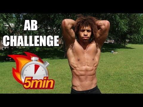 5 MIN AB WORKOUT FOR FAST SIX PACK RESULTS – FOLLOW ALONG ABNORMAL CHALLENGE