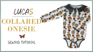Step by Step Guide on How to Sew The Lucas Collared Baby Onesie | Tutorial | Happy-Sewing Pattern