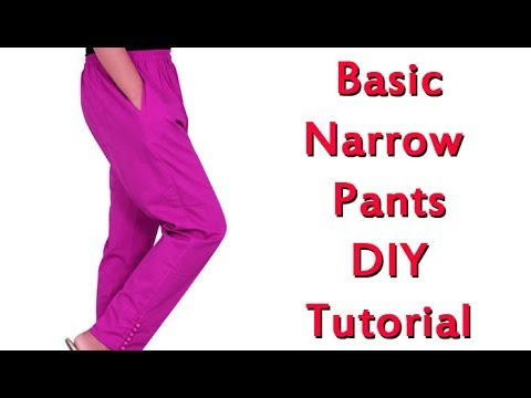 Basic narrow pants cutting and stitching, malayalam Tutorial, narrow palazo cutting and stitching