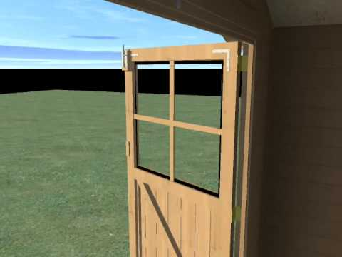 Abri bois massif 34mm decor et jardin valodeal for Abri jardin bricomarche