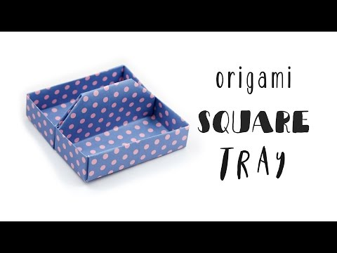 Origami Square Tray Tutorial ♥︎ Toolbox ♥︎ Box ♥︎ DIY Desk Organiser ♥︎