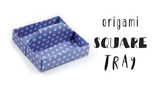 Origami Square Tray Tutorial ♥︎ Toolbox ♥︎ Box ♥︎ DIY Desk Organiser ♥︎
