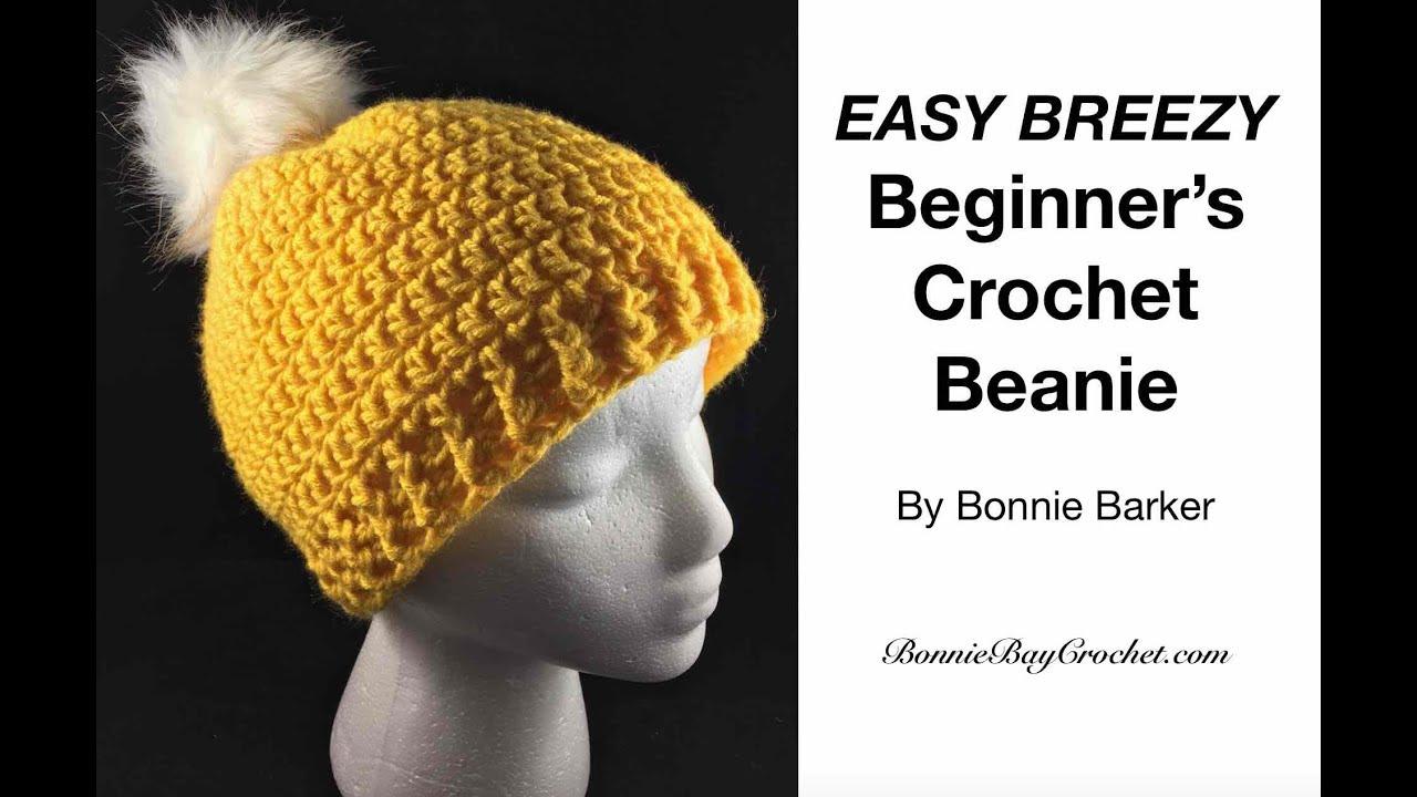2df8f0693 EASY BEGINNER S Crochet Beanie