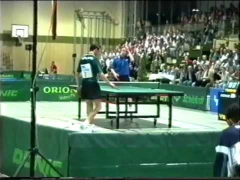 Tischtennis Waldner Grubba Persson Saive Primorac Kalinic Korbel Blaszczyk bei Showkaempfen